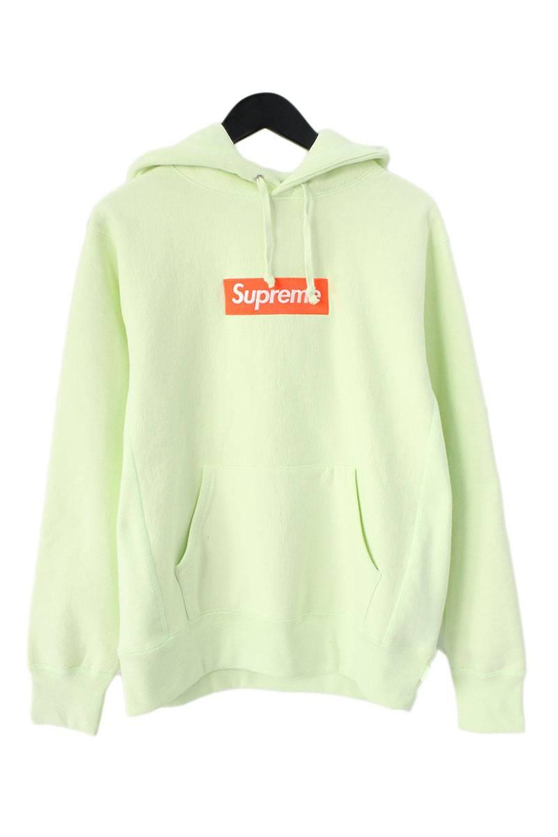 シュプリーム/SUPREME 【17AW】【Box Logo Hooded Sweatshirt】ボックスロゴプルオーバーパーカー(S/イエロー)【SB01】【メンズ】【106081】【中古】bb157#rinkan*S