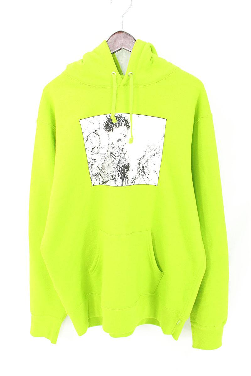 シュプリーム/SUPREME ×アキラ 【17AW】【Arm Hooded Sweatshirt】×AKIRA プリントプルオーバーパーカー(L/グリーン)【FK04】【メンズ】【706081】【中古】bb177#rinkan*B