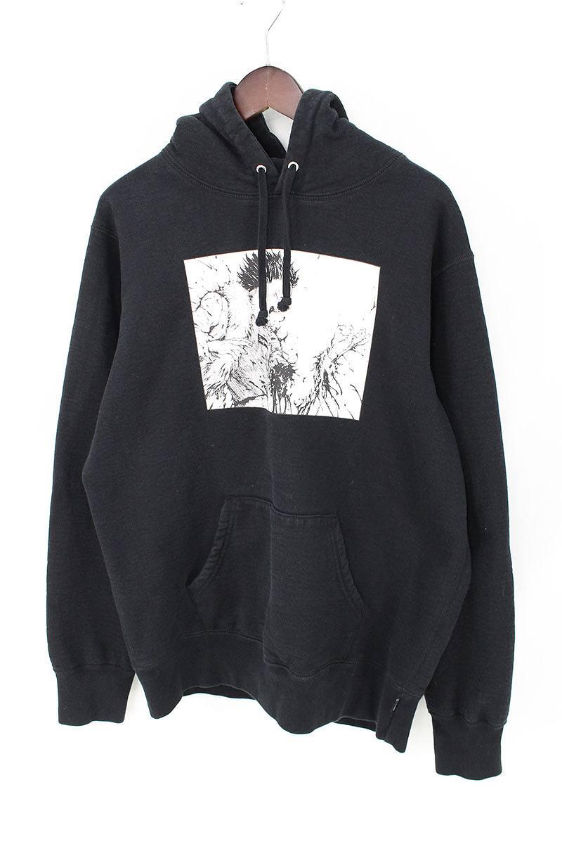 シュプリーム/SUPREME ×アキラ 【17AW】【Arm Hooded Sweatshirt】×AKIRA プリントプルオーバーパーカー(M/ブラック)【FK04】【メンズ】【706081】【中古】bb177#rinkan*B