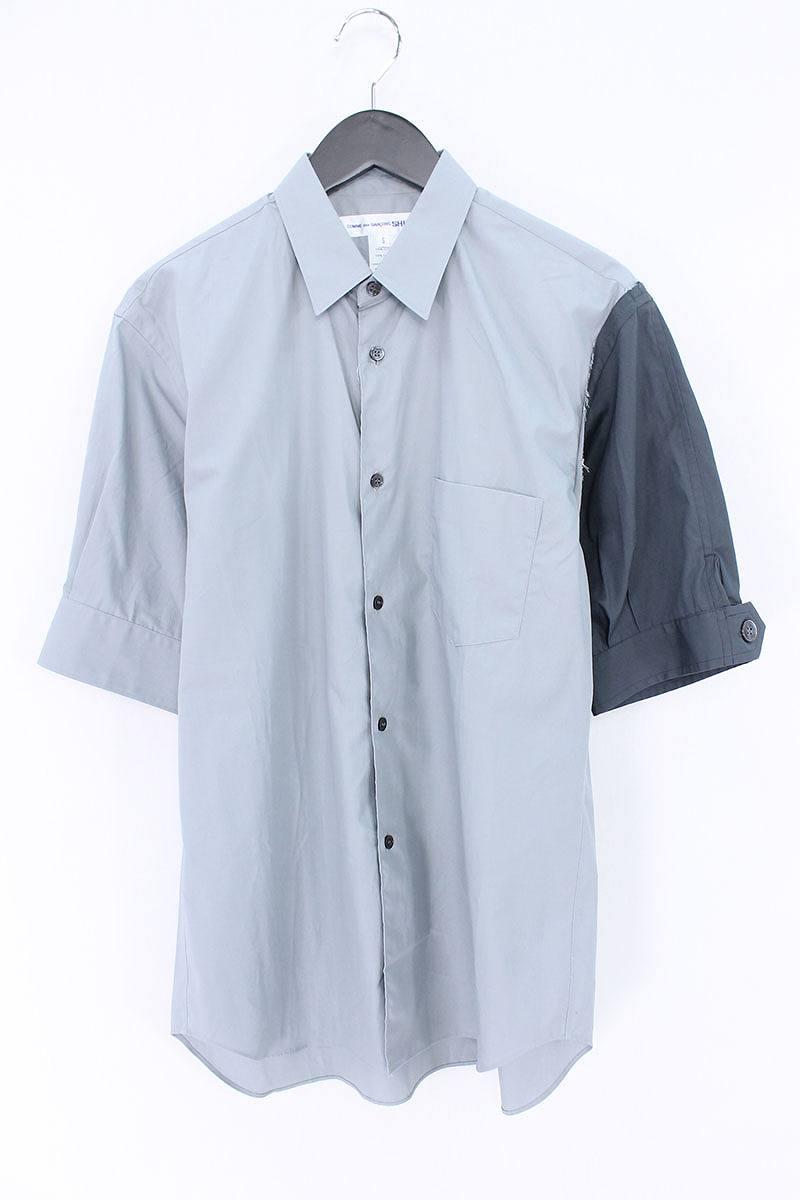 コムデギャルソンシャツ/COMME des GARCONS SHIRT 袖カラー切替シャツ(S/グレー調)【BS99】【メンズ】【706081】【中古】bb14#rinkan*B