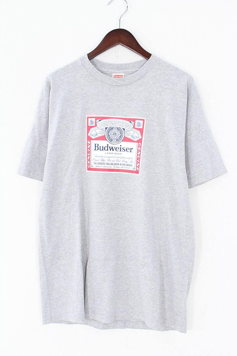 シュプリーム/SUPREME 【09SS】【Budweiser Tee】バドワイザーTシャツ(L/グレー)【OM10】【メンズ】【706081】【中古】bb223#rinkan*B