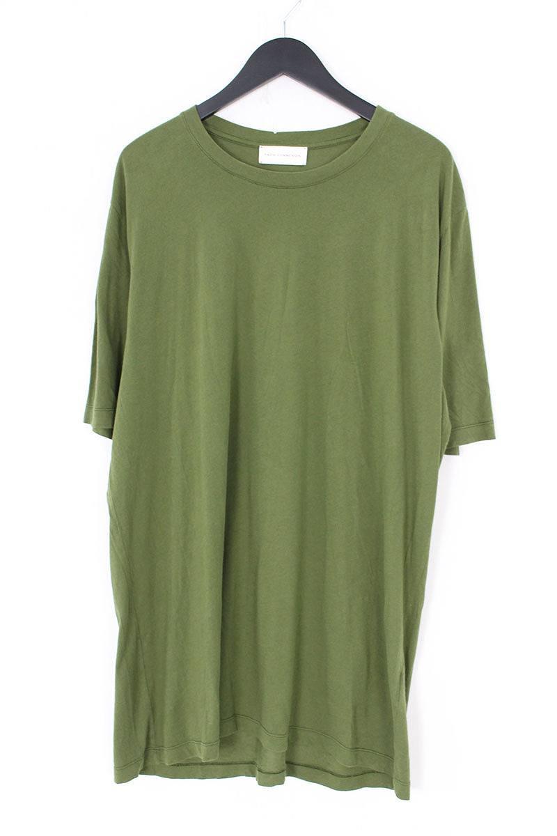 フェイスコネクション/FAITH CONNEXION 【oversized T-shirt】オーバーサイズTシャツ(L/オリーブ)【SB01】【メンズ】【506081】【中古】bb212#rinkan*B