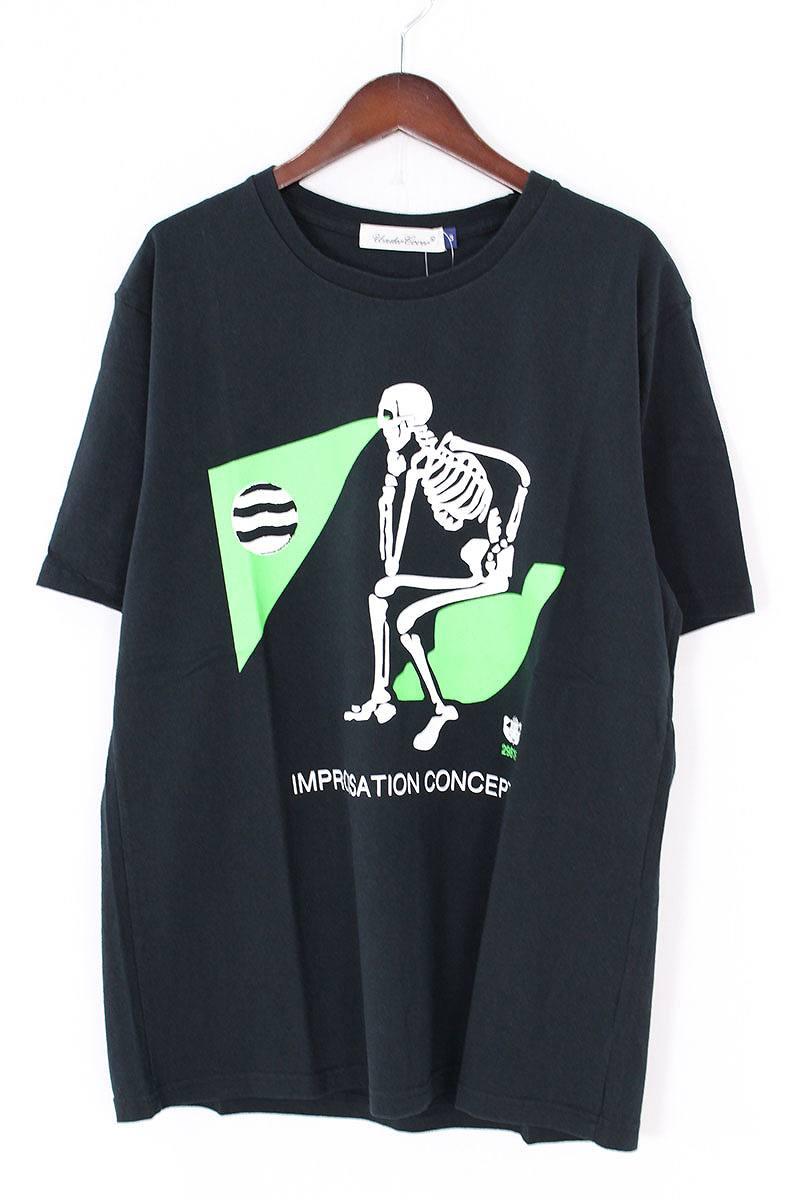 アンダーカバー/UNDERCOVER 【17SS】【UCS3803】TEE SKULLBEAMプリントTシャツ(3/ブラック)【SB01】【メンズ】【506081】【中古】bb13#rinkan*S