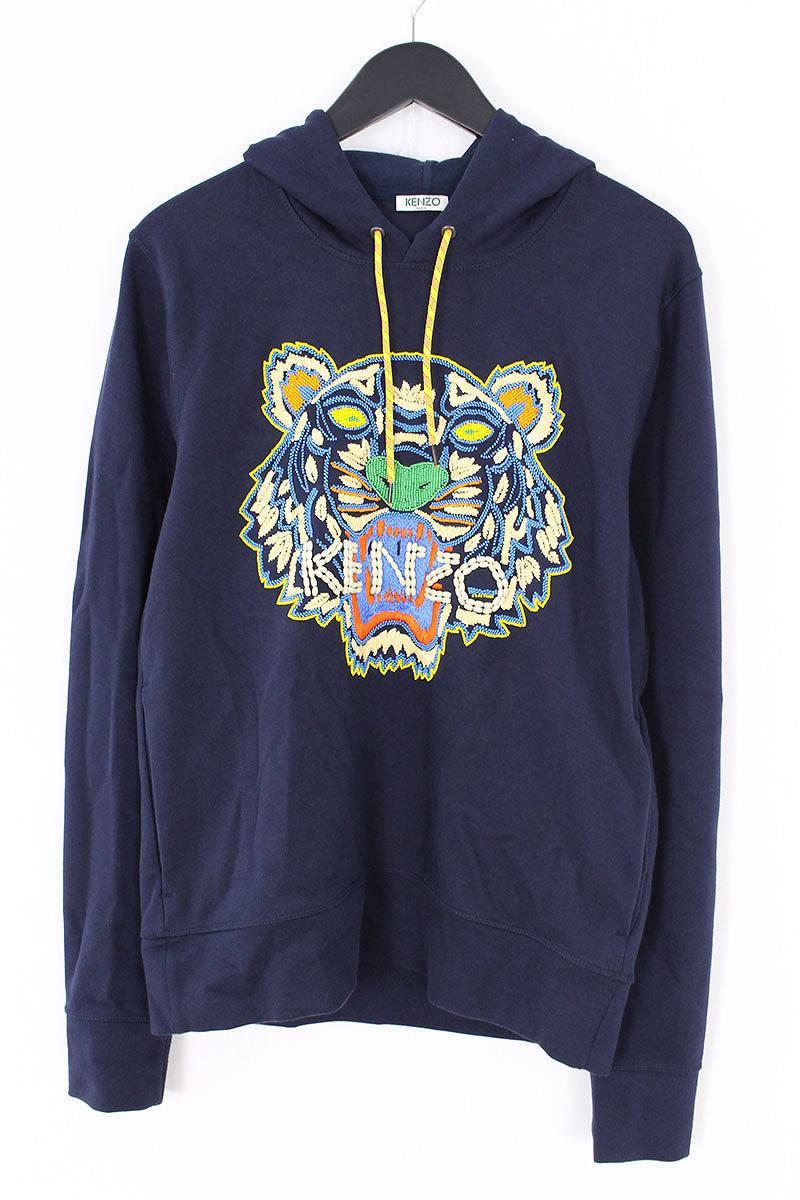 ケンゾー/KENZO ビーズ刺繍タイガーパーカー(M/ネイビー)【SB01】【メンズ】【506081】【中古】bb212#rinkan*A