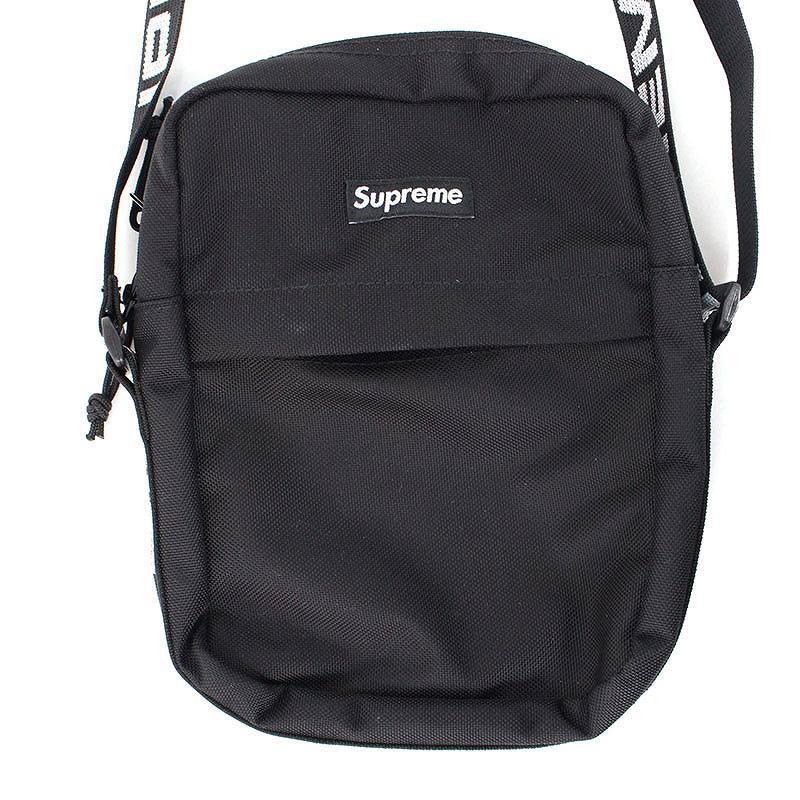シュプリーム/SUPREME 【18SS】【Shoulder Bag】ボックスロゴナイロンショルダーバッグ(ブラック)【SJ02】【小物】【606081】【中古】bb131#rinkan*S