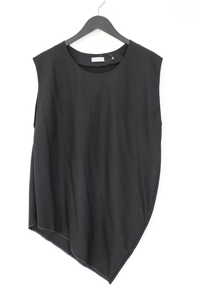 ディオールオム/Dior HOMME 【11SS】【163C517A1559】アシンメトリープルオーバーノースリーブシャツ(44/ブラック)【SB01】【メンズ】【706081】【中古】bb87#rinkan*B