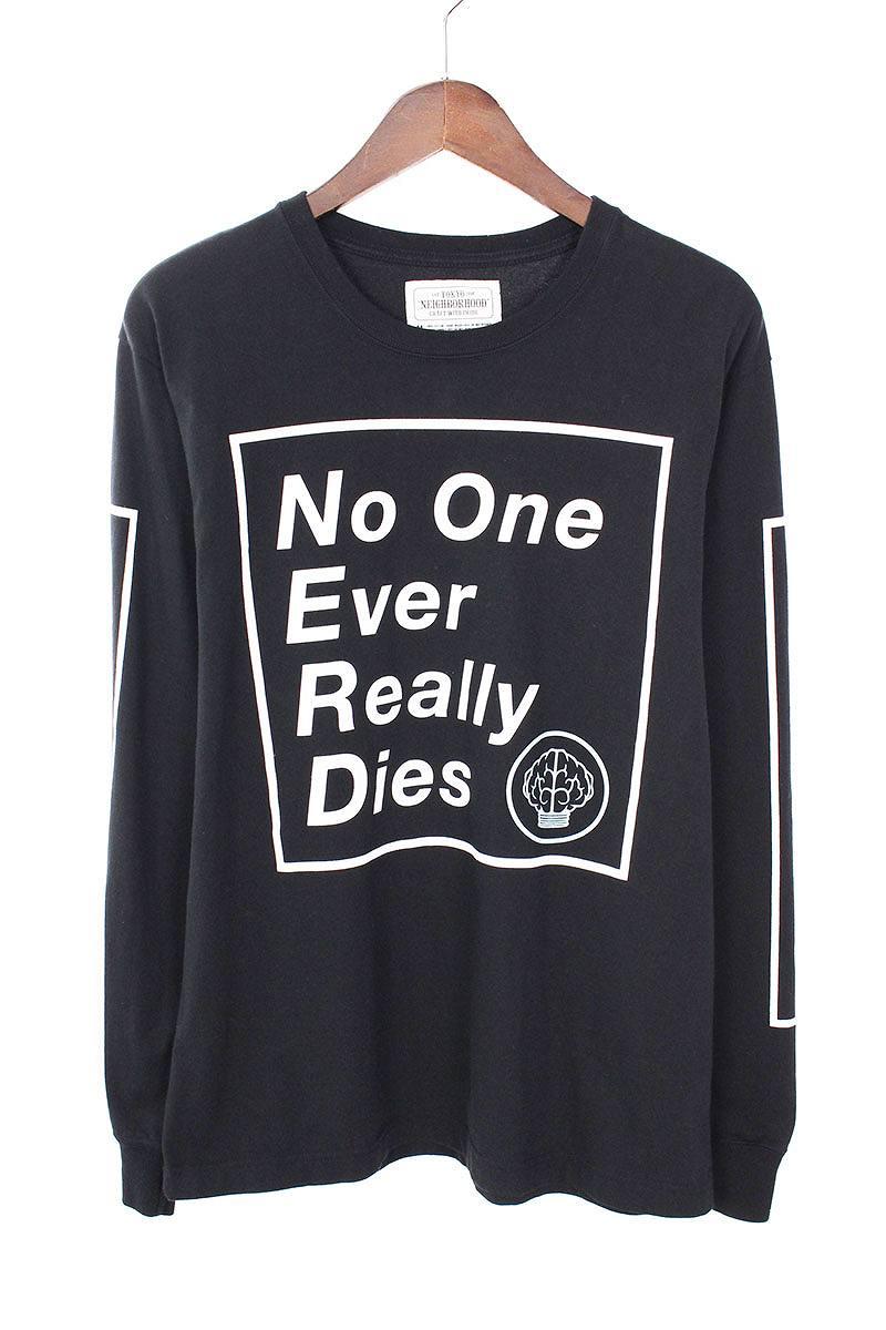 ネイバーフッド/NEIGHBORHOOD ×エヌ・イー・アール・ディー 【18SS】【No one Ever Really Dies L/S Tee】×N.E.R.Dロゴプリント長袖カットソー(M/ブラック)【BS99】【メンズ】【107081】【中古】bb154#rinkan*B