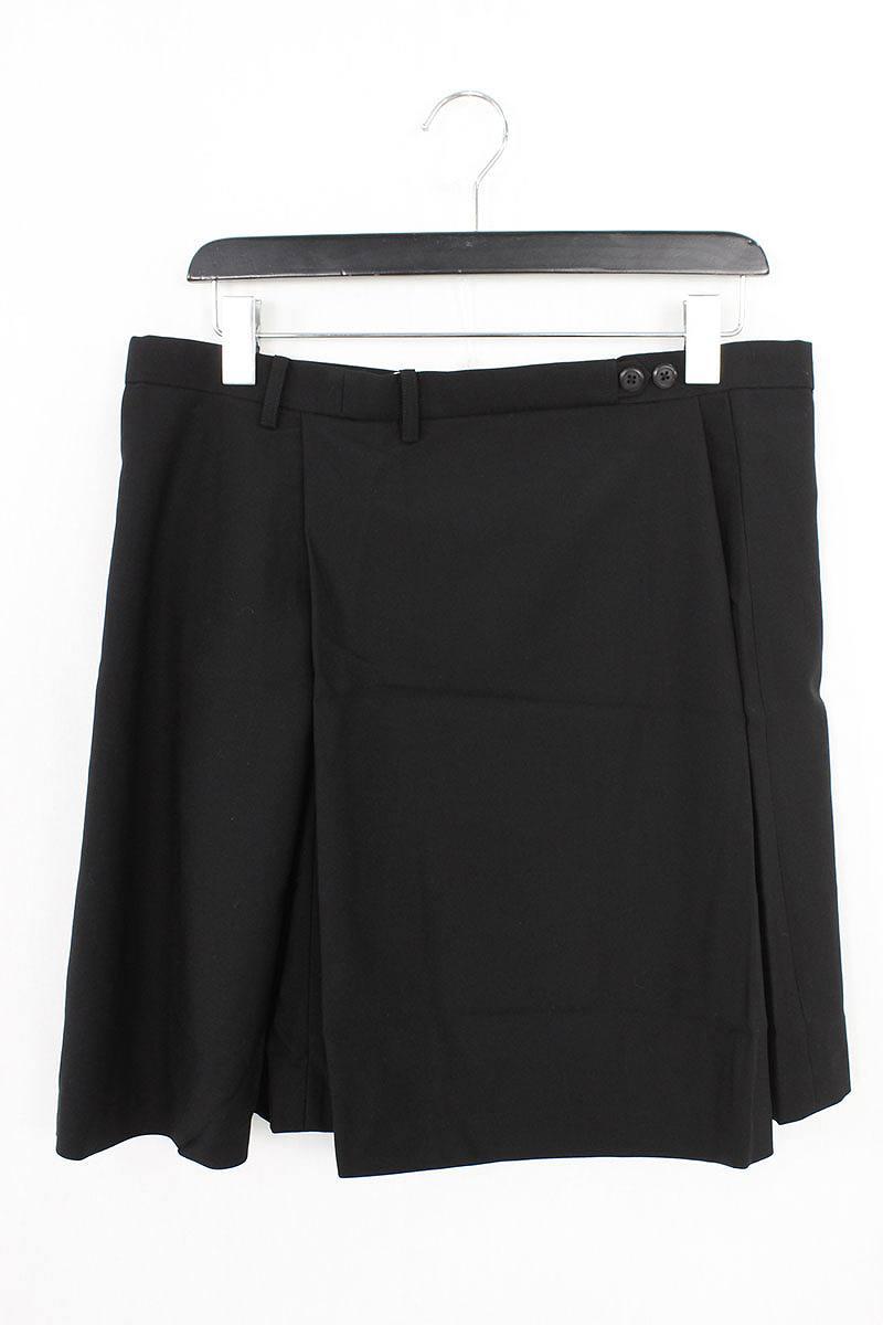 ラッドミュージシャン/LAD MUSICIAN ギャバジンウールラップスカート(46/ブラック)【BS99】【メンズ】【107081】【中古】bb30#rinkan*S