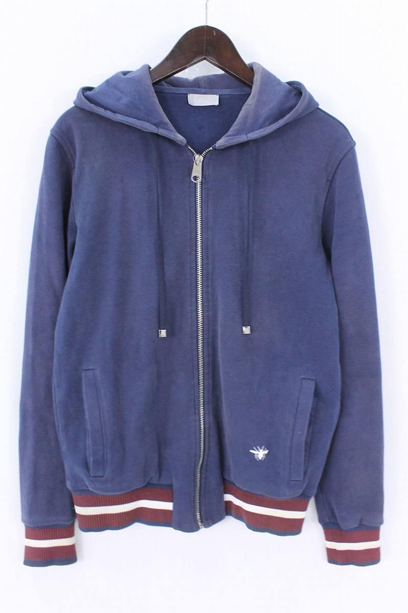 ディオールオム/Dior HOMME BEE刺繍ジップアップパーカー(44/ネイビー)【BS99】【メンズ】【107081】【中古】bb14#rinkan*B