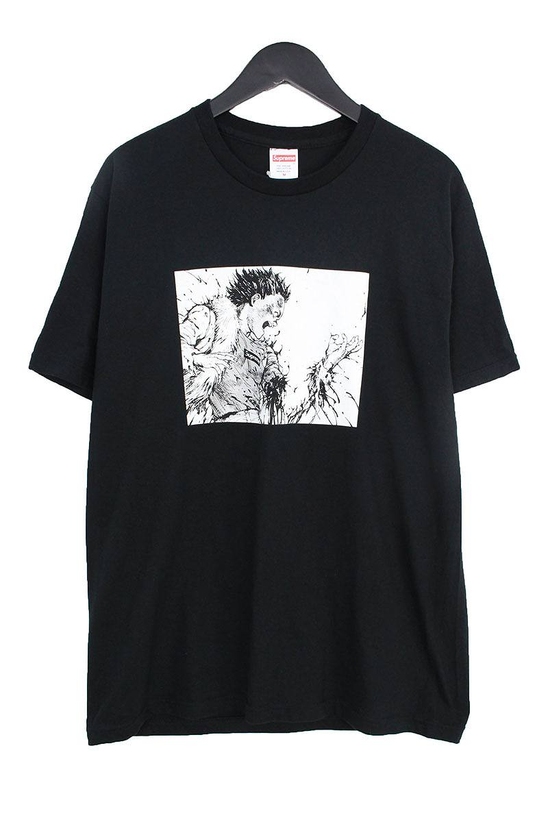 シュプリーム/SUPREME ×アキラ 【17AW】【Arm Tee】×AKIRAアームプリントTシャツ(M/ブラック)【OS06】【メンズ】【516081】【中古】bb143#rinkan*S