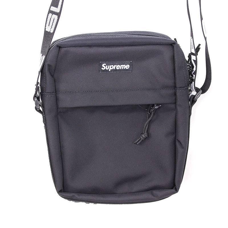 シュプリーム/SUPREME 【18SS】【Shoulder Bag】ボックスロゴナイロンショルダーバッグ(ブラック)【OM10】【小物】【516081】【中古】bb131#rinkan*S