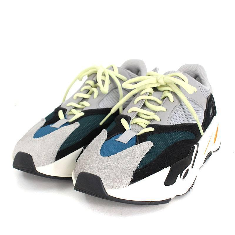 アディダス/adidas ×カニエウエスト 【YEEZY BOOST 700 YEEZY WAVE RUNNER】B75571】ローカットスニーカー(26.5cm/グレー×グリーン)【OM10】【メンズ】【小物】【516081】【中古】bb212#rinkan*A