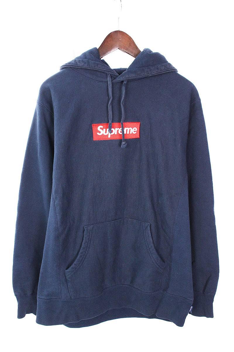 シュプリーム/SUPREME 【12AW】【Box Logo Pullover】ボックスロゴプルオーバーパーカー(L/ネイビー)【SB01】【メンズ】【516081】【中古】bb157#rinkan*C
