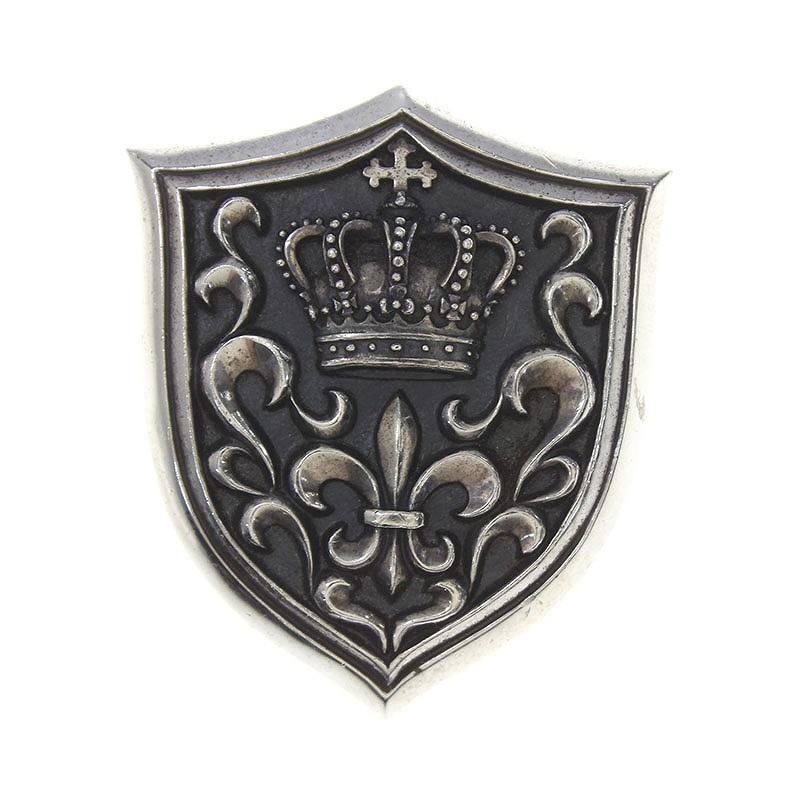 ジャスティンデイビス/JustinDavis 【SPJ103/Shield】クラウンシールドネックレストップ(シルバー/36.91g)【SJ02】【小物】【516081】【中古】bb177#rinkan*B
