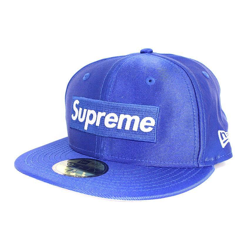 シュプリーム/SUPREME ×ニューエラ/NewEra 【16SS】【Dazzle Box Logo New Era Cap】ダズルボックスロゴキャップ(7 1/8/ブルー)【SB01】【小物】【516081】【中古】bb154#rinkan*S