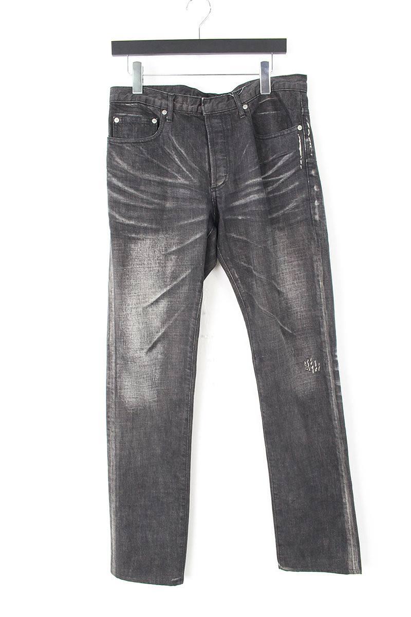 ディオールオム/Dior HOMME ウォッシュ加工デニムパンツ(48/ブラック×グレー)【BS99】【メンズ】【107081】【中古】bb15#rinkan*B