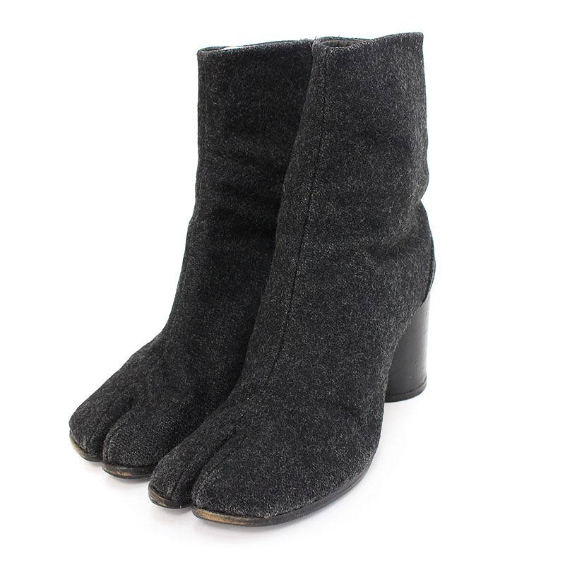 マルタンマルジェラ/Maison Martin Margiela ウール足袋ブーツ(38/グレー)【BS99】【レディース】【小物】【107081】【中古】bb33#rinkan*B