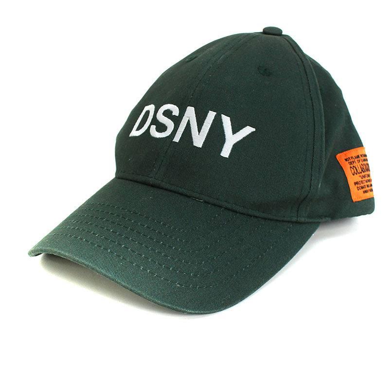 ヘロンプレストン/HERON PRESTON 【DSNY Baseball Cap】ロゴ刺繍ベースボールキャップ(ダークグリーン)【FK04】【小物】【520181】【中古】bb223#rinkan*B