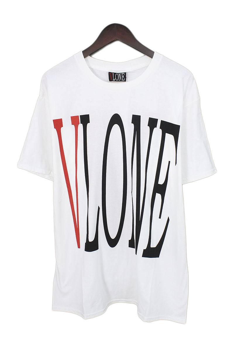 ヴィーロン/VLONE 【VLONE LOGO TEE】ロゴプリントリバーシブルTシャツ(XL/ホワイト)【SB01】【メンズ】【916081】【中古】bb223#rinkan*S