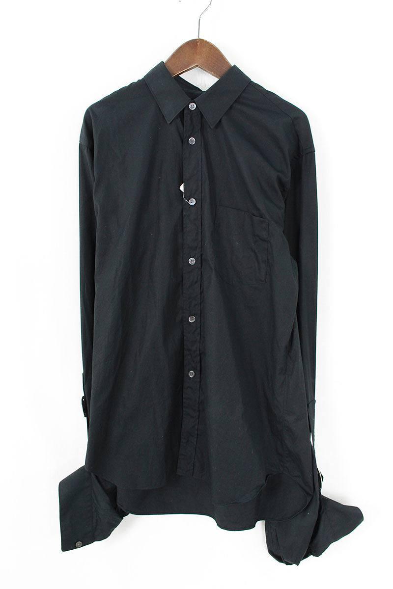 コムデギャルソンシャツ/COMME des GARCONS SHIRT 【17SS】【S25021】ベルトデザイン長袖シャツ(S/ブラック)【BS99】【メンズ】【107081】【中古】bb229#rinkan*B