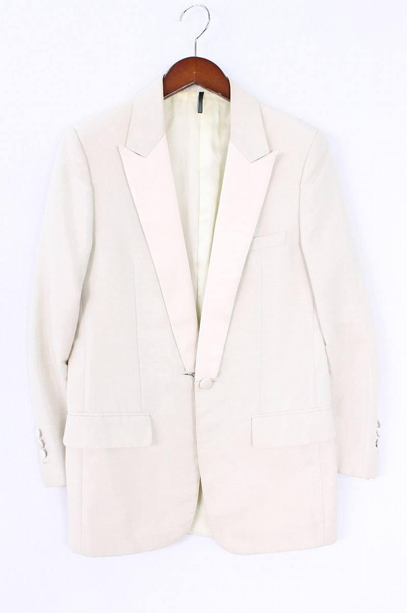 ディオールオム/Dior HOMME 【06SS】ピークドラペルシャイニーテーラードジャケット(44/ベージュ)【SB01】【メンズ】【226081】【中古】bb33#rinkan*B