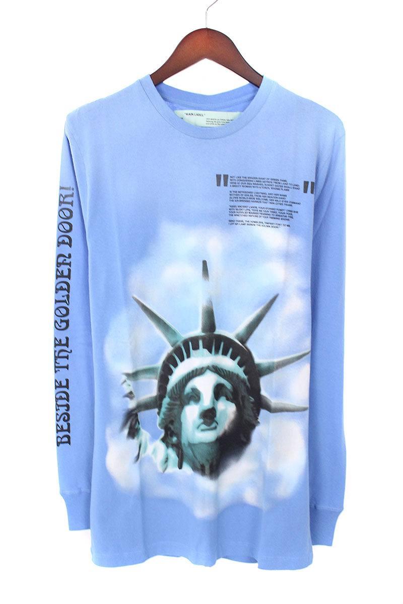 オフホワイト/OFF-WHITE 【18AW】【BLUE LIBERTY L/S T-SHIRT】リバティープリント長袖カットソー(S/ブルー)【NO05】【メンズ】【226081】【新古品】bb20#rinkan*N
