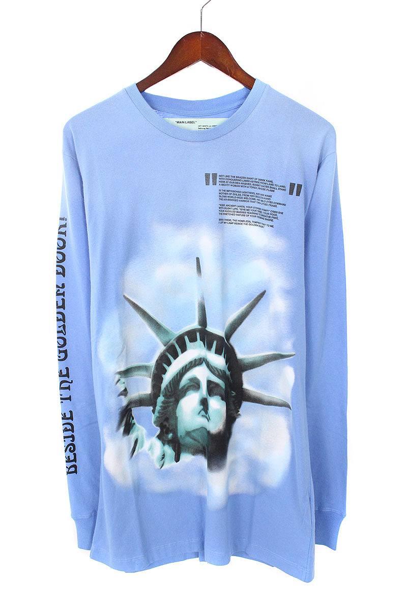 オフホワイト/OFF-WHITE 【18AW】【BLUE LIBERTY L/S T-SHIRT】リバティープリント長袖カットソー(M/ブルー)【NO05】【メンズ】【226081】【新古品】bb20#rinkan*N