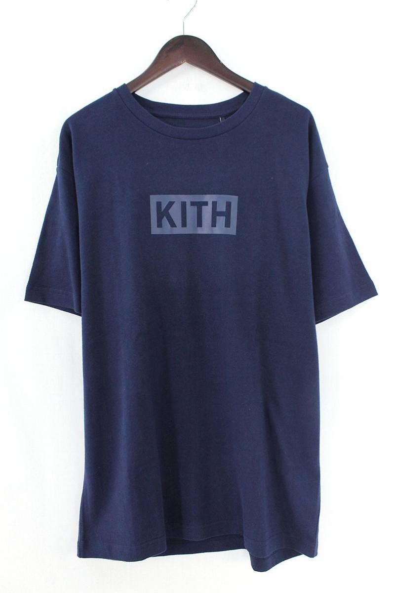キス/KITH ボックスロゴTシャツ(L/ネイビー)【FK04】【メンズ】【626081】【中古】【準新入荷】bb229#rinkan*S