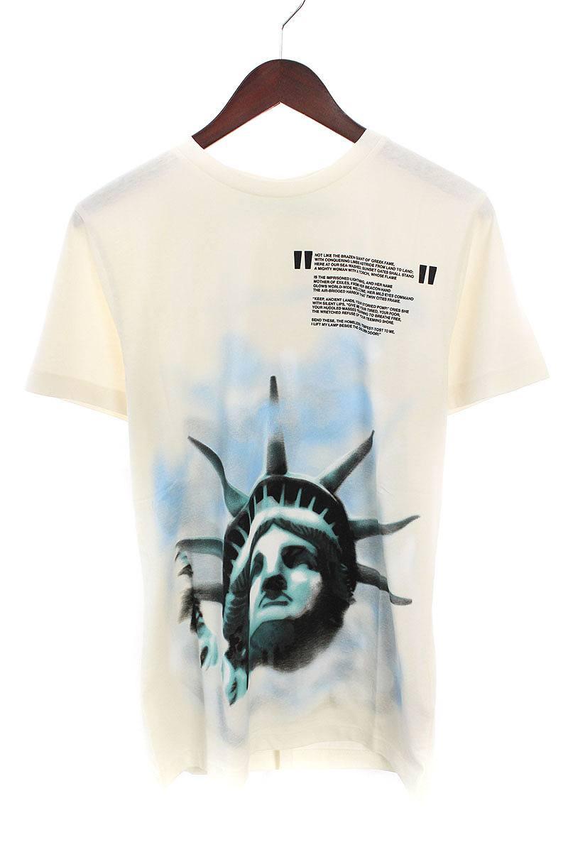 オフホワイト/OFF-WHITE 【18AW】【WHITE LIBERTY S/S T-SHIRT】リバティープリントTシャツ(XS/ホワイト)【NO05】【メンズ】【226081】【新古品】bb20#rinkan*N