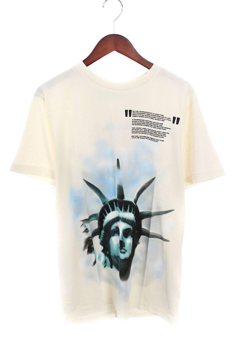 オフホワイト/OFF-WHITE 【18AW】【WHITE LIBERTY S/S T-SHIRT】リバティープリントTシャツ(M/ホワイト)【NO05】【メンズ】【226081】【新古品】bb20#rinkan*N