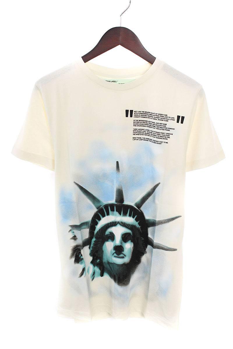 オフホワイト/OFF-WHITE 【18AW】【WHITE LIBERTY S/S T-SHIRT】リバティープリントTシャツ(XS/ホワイト)【OS06】【メンズ】【226081】【中古】bb20#rinkan*N-
