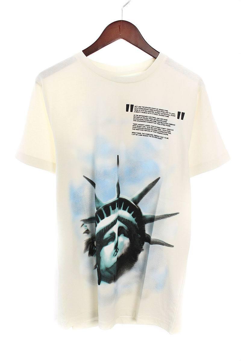 オフホワイト/OFF-WHITE 【18AW】【WHITE LIBERTY S/S T-SHIRT】リバティープリントTシャツ(S/ホワイト)【OM10】【メンズ】【226081】【新古品】bb20#rinkan*N