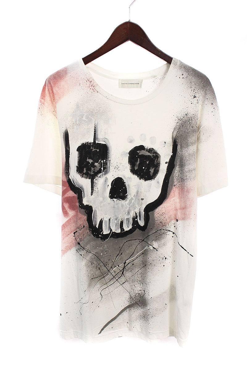 フェイスコネクション/FAITH CONNEXION 【M3724J26T】スカルグラフィティ柄Tシャツ(XS/ホワイト)【SB01】【メンズ】【226081】【中古】bb212#rinkan*B