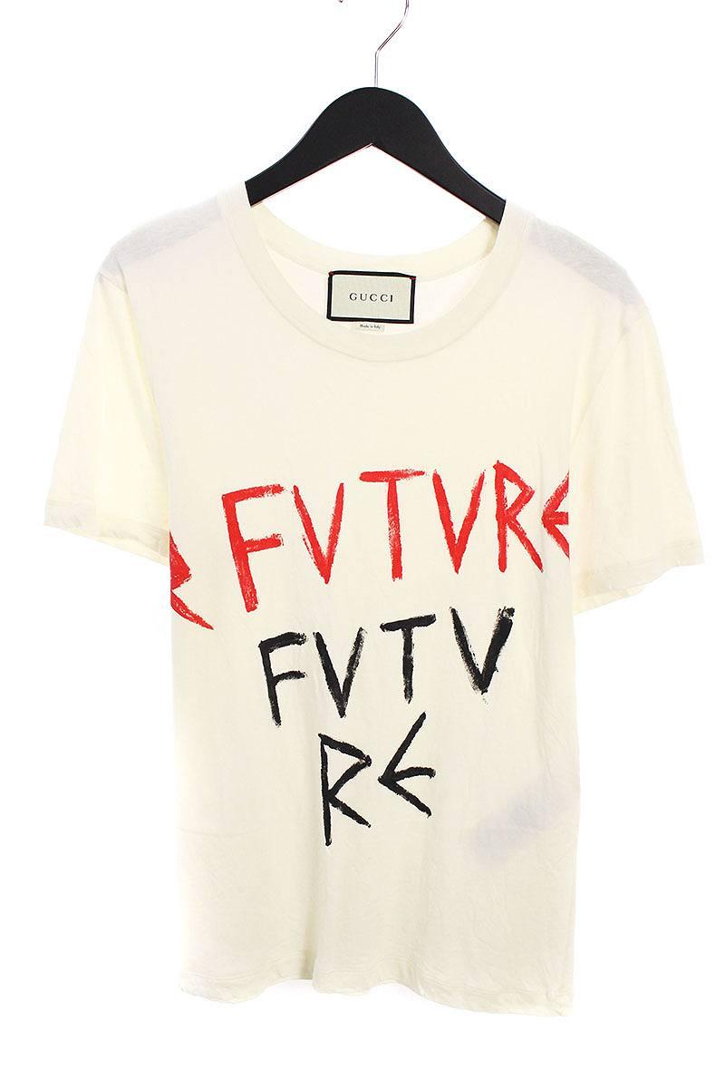 グッチ/GUCCI 【17SS】【440104 X3F96】FUTUREトプリントTシャツ(XS/ホワイト)【SB01】【メンズ】【226081】【中古】bb154#rinkan*B