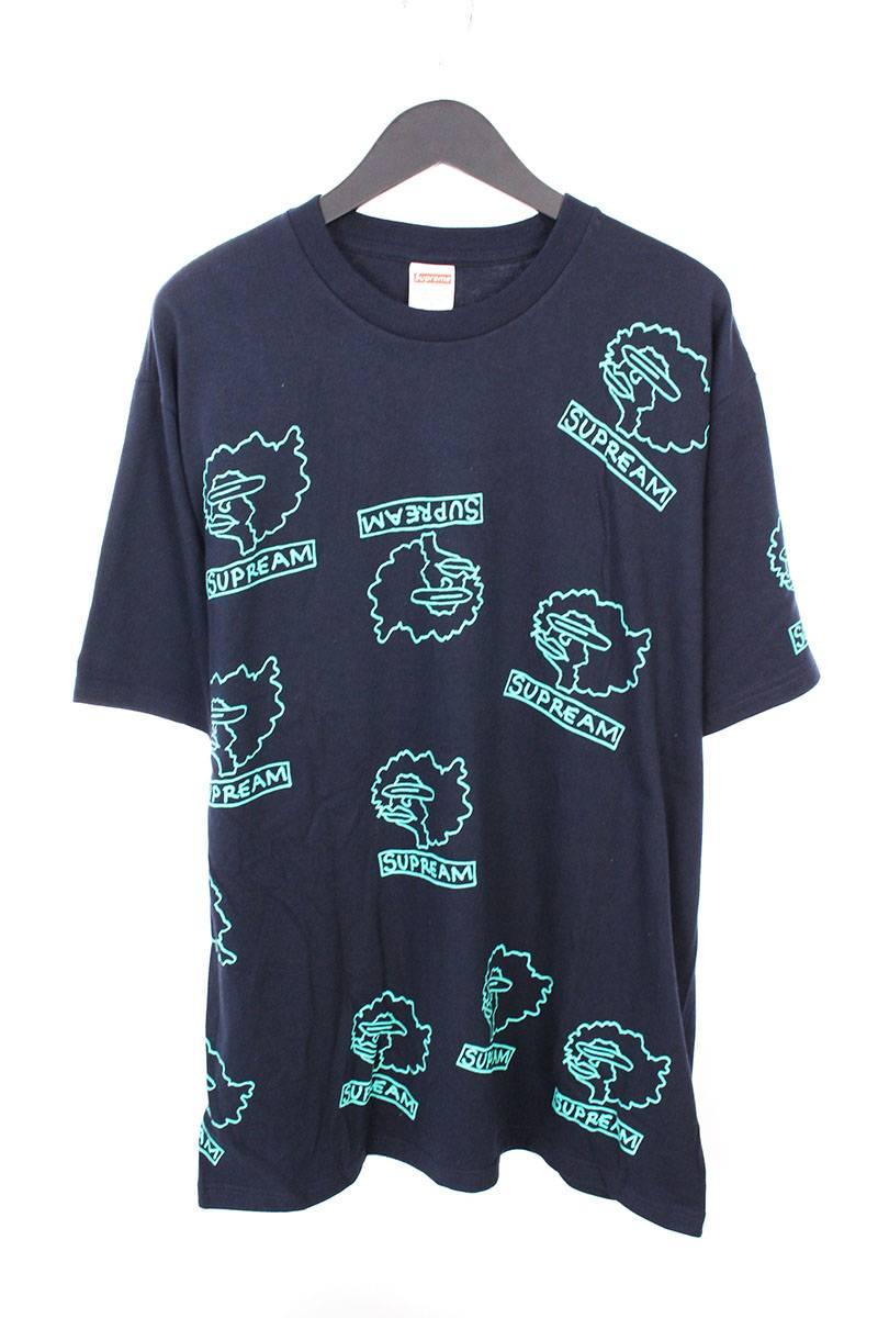 シュプリーム/SUPREME 【17AW】【Gonz Heads Tee】ゴンズヘッドプリントTシャツ(L/ネイビー)【NO05】【メンズ】【426081】【中古】bb76#rinkan*S