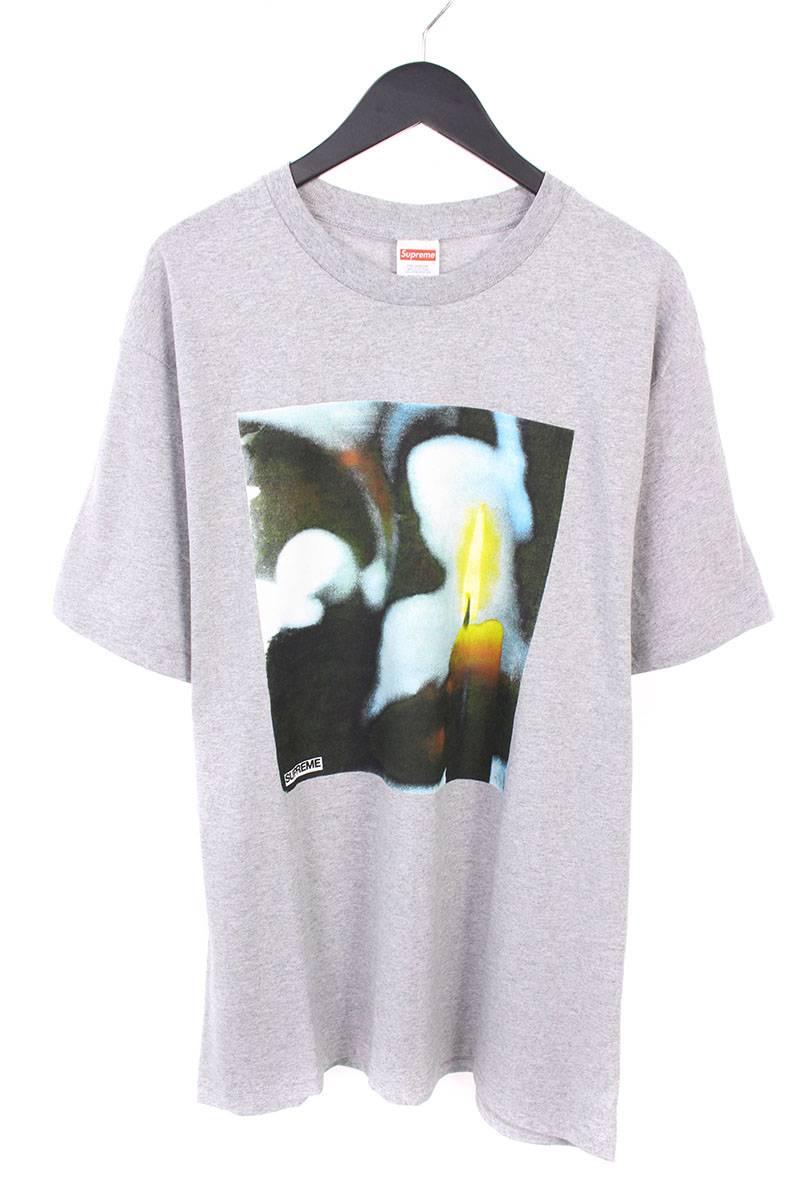 シュプリーム/SUPREME 【17AW】【Candle Tee】キャンドルプリントTシャツ(L/グレー)【NO05】【メンズ】【426081】【中古】bb76#rinkan*A