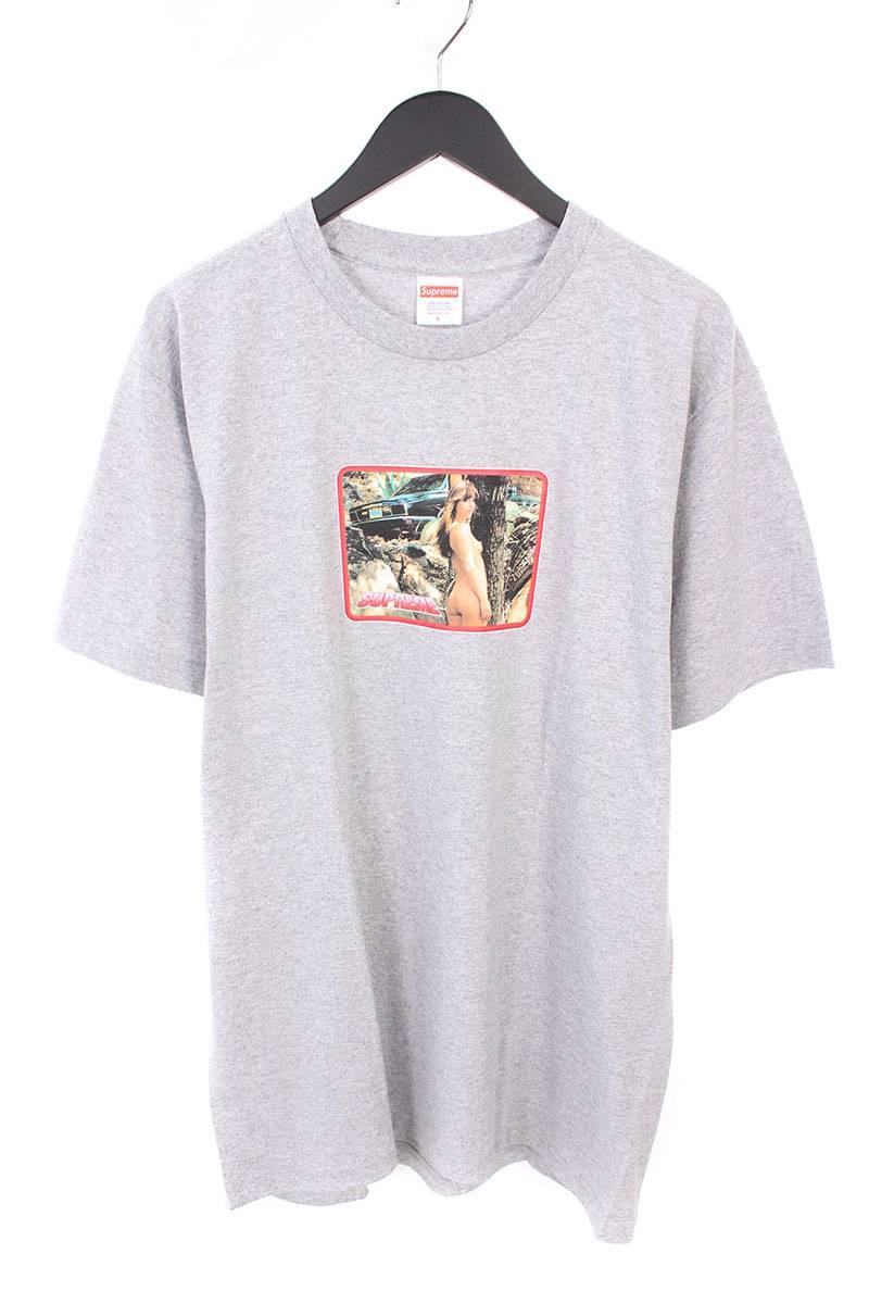シュプリーム/SUPREME 【17SS】【Larry Clark Girl Tee】ラリークラークプリントTシャツ(L/グレー)【NO05】【メンズ】【426081】【中古】bb76#rinkan*S