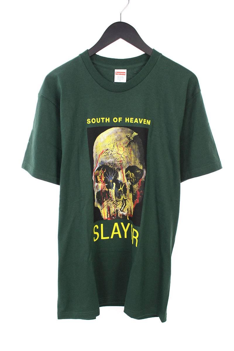 シュプリーム/SUPREME ×スレイヤー 【16AW】【South of Heaven Tee】フロントプリントTシャツ(L/ダークグリーン)【OM10】【メンズ】【326081】【中古】bb76#rinkan*A