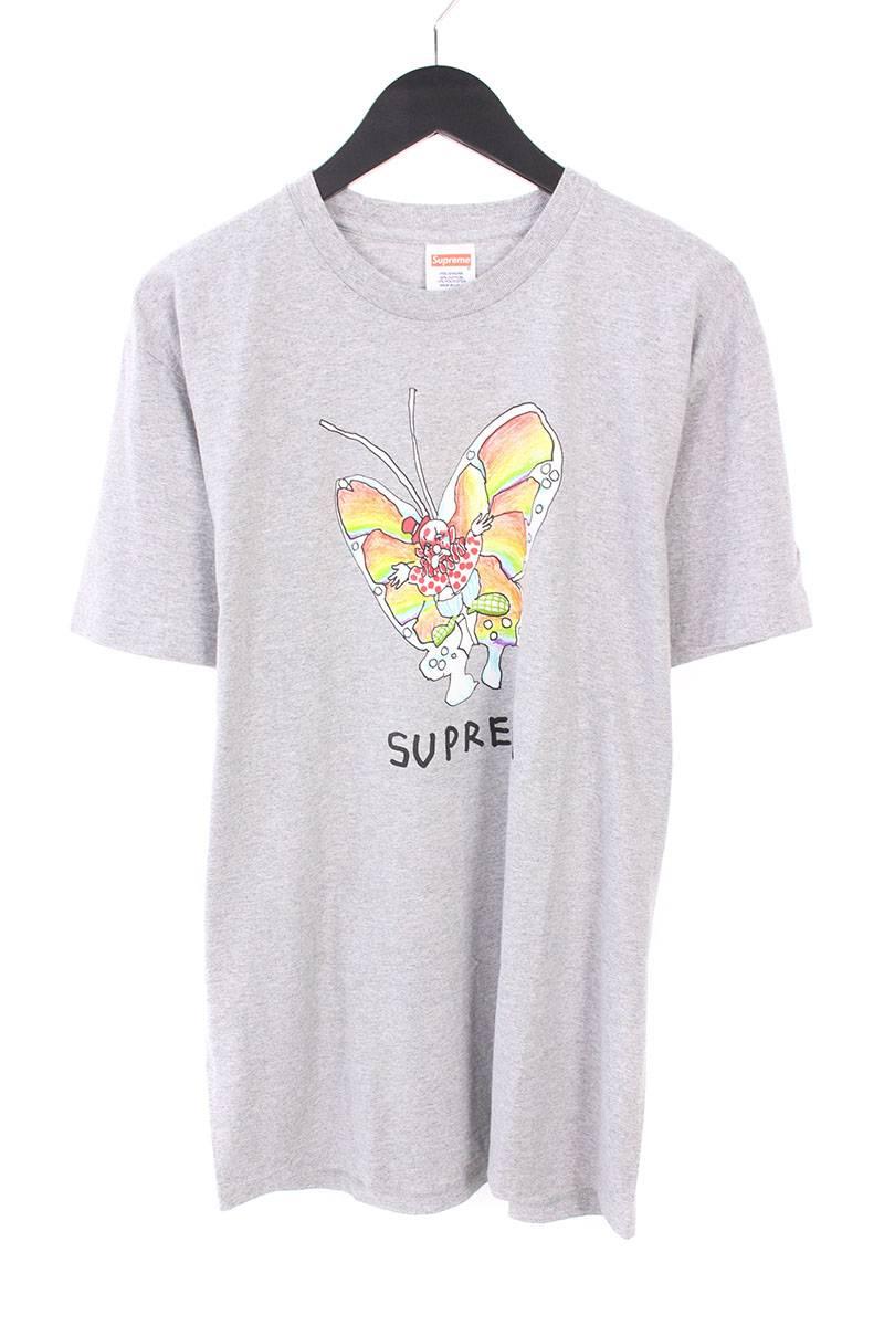 シュプリーム/SUPREME 【16SS】【Gonz Butterfly Tee】ゴンズバタフライTシャツ(L/グレー)【OM10】【メンズ】【326081】【中古】bb76#rinkan*A