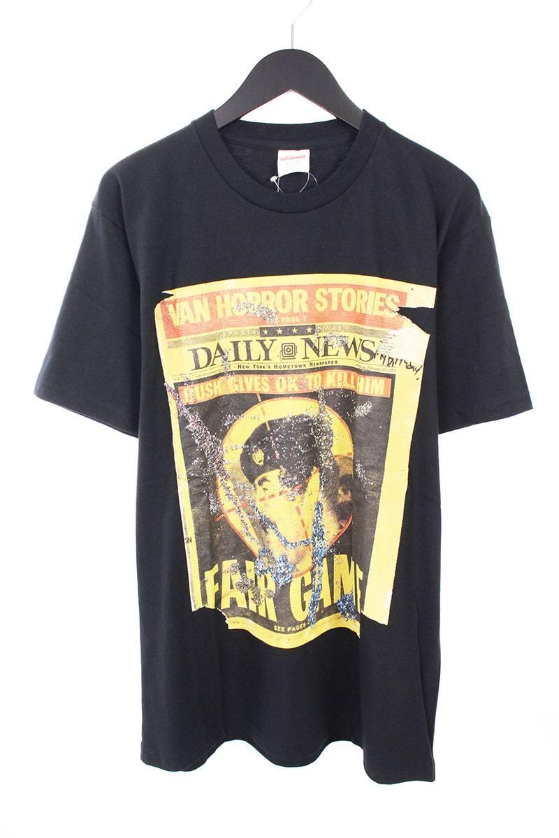 シュプリーム/SUPREME 【16AW】【Dash Snow Tee】ダッシュスノウプリントTシャツ(L/ブラック)【OM10】【メンズ】【326081】【中古】bb76#rinkan*S