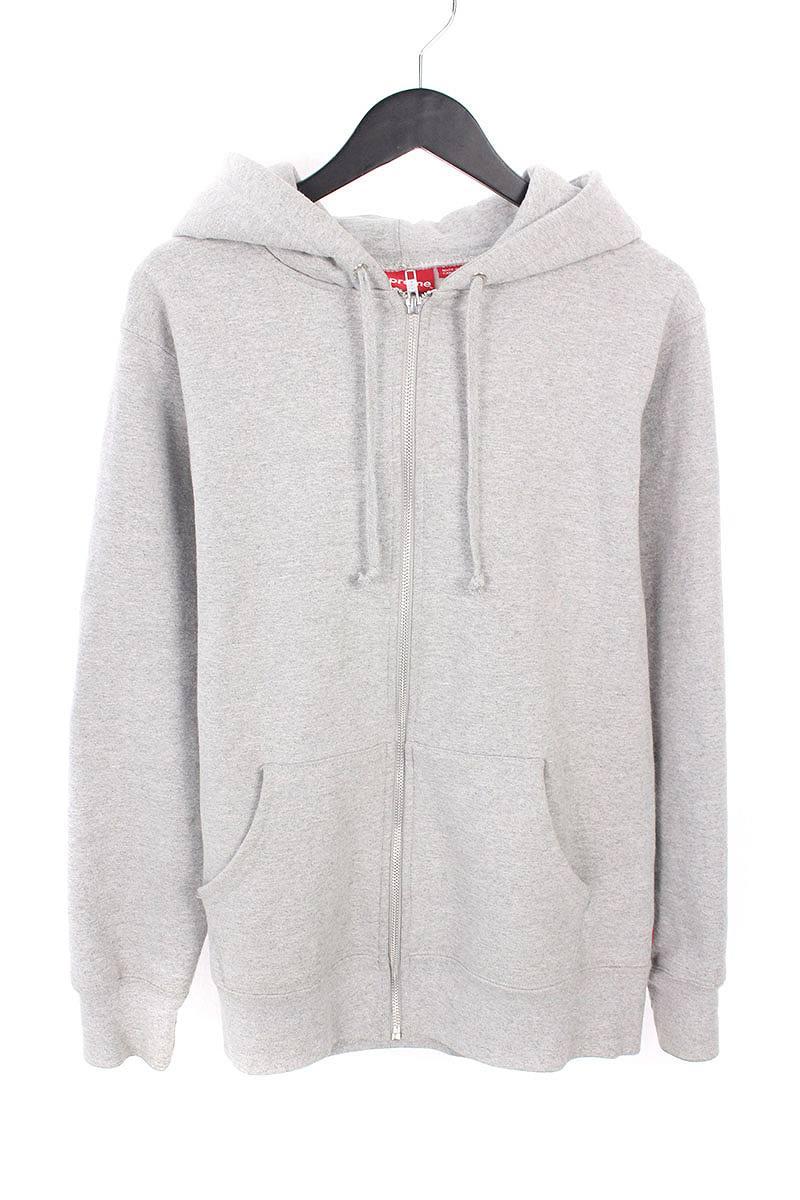 シュプリーム/SUPREME 【16AW】【Old English Hood Logo Zip Up Sweat】ジップアップフードロゴパーカー(M/グレー)【OM10】【メンズ】【226081】【中古】bb168#rinkan*B
