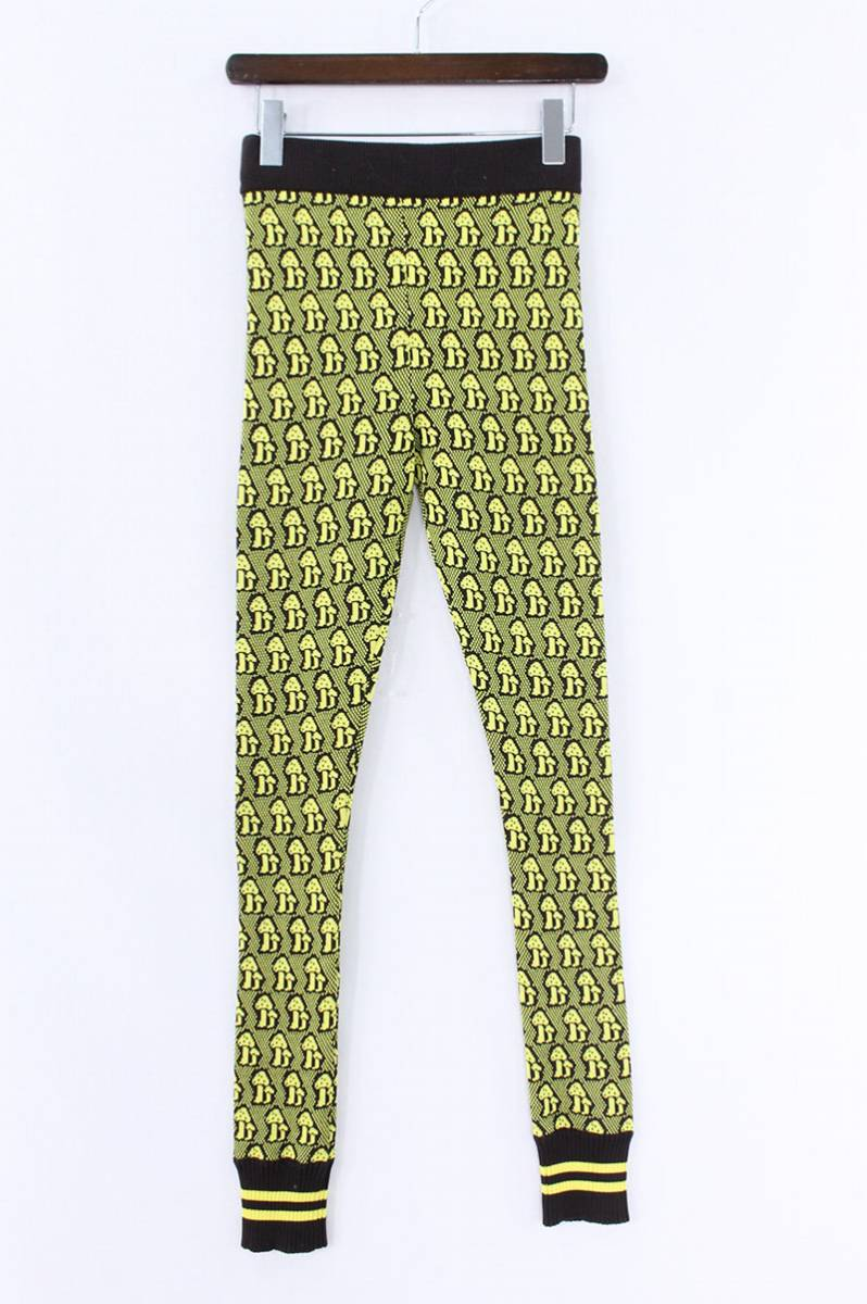グッチ/GUCCI マッシュルーム刺繍ウールイージーパンツ(S/イエロー×ブラウン)【OM10】【メンズ】【326081】【中古】bb33#rinkan*A