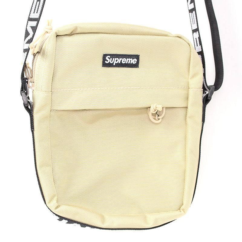 シュプリーム/SUPREME 【18SS】【Shoulder Bag】ボックスロゴナイロンショルダーバッグ(ベージュ)【SB01】【小物】【226081】【中古】bb131#rinkan*S
