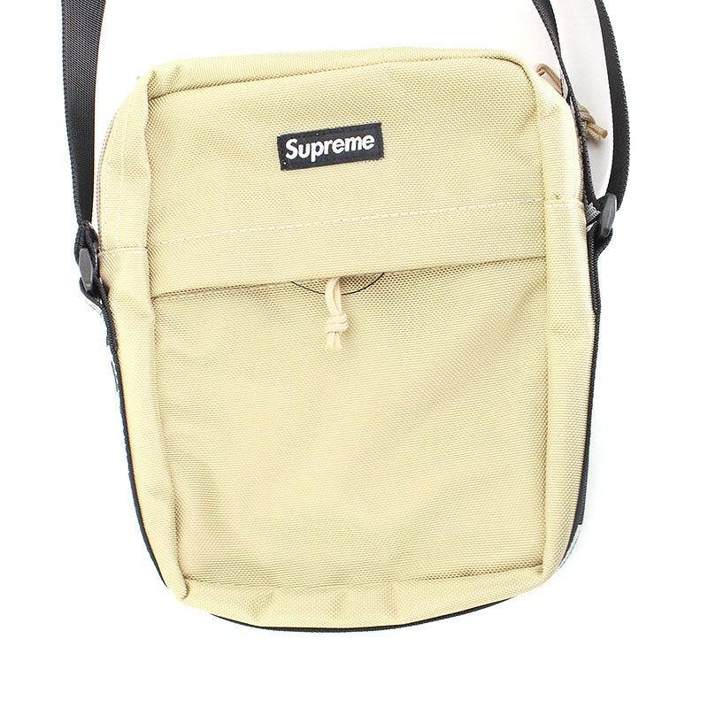 シュプリーム/SUPREME 【18SS】【Shoulder Bag】ボックスロゴナイロンショルダーバッグ(ベージュ)【SJ02】【小物】【226081】【中古】bb154#rinkan*S