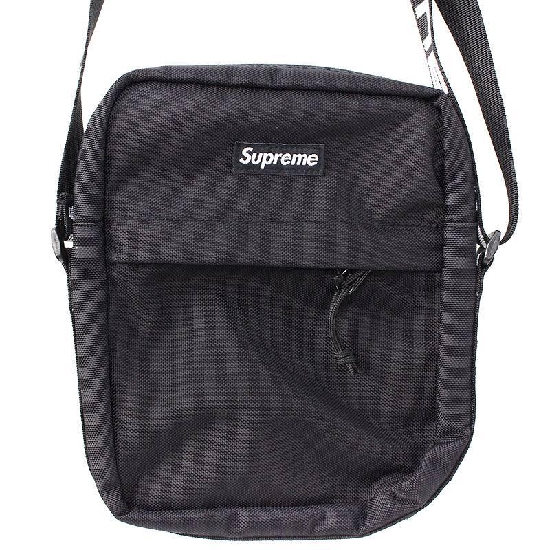 シュプリーム/SUPREME 【18SS】【Shoulder Bag】ボックスロゴナイロンショルダーバッグ(ブラック)【NO05】【小物】【726081】【中古】bb131#rinkan*S