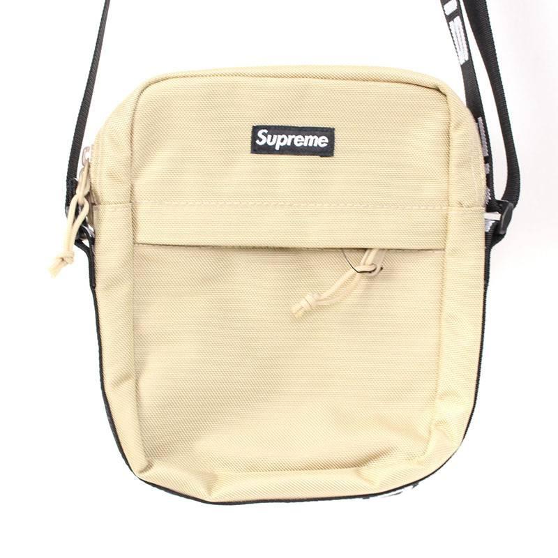シュプリーム/SUPREME 【18SS】【Shoulder Bag】ボックスロゴナイロンショルダーバッグ(ベージュ)【OM10】【小物】【426081】【中古】bb154#rinkan*S