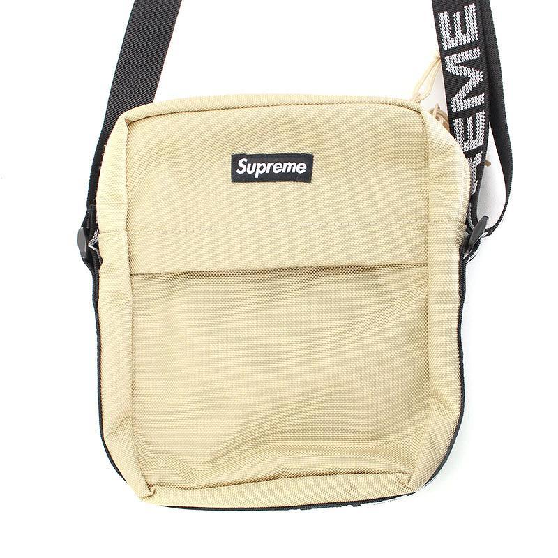 シュプリーム/SUPREME 【18SS】【Shoulder Bag】ボックスロゴナイロンショルダーバッグ(ベージュ)【HJ12】【小物】【226081】【中古】bb154#rinkan*S