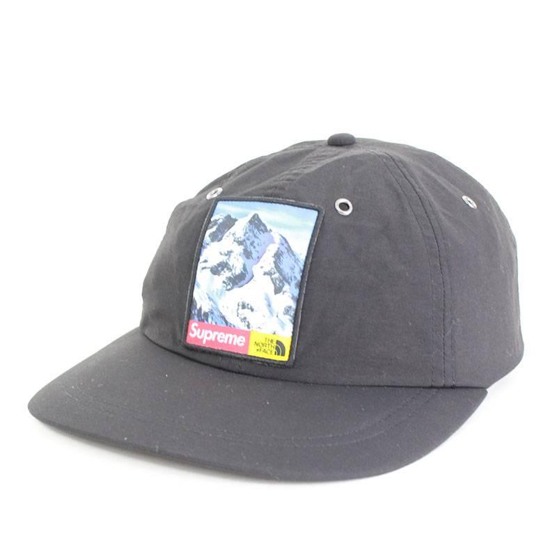 シュプリーム/SUPREME ×ノースフェイス/THE NORTH FACE 【17AW】【Mountain 6-Panel Hat】マウンテン6パネルキャップ(FREE/ブラック)【OM10】【小物】【326081】【中古】bb157#rinkan*B