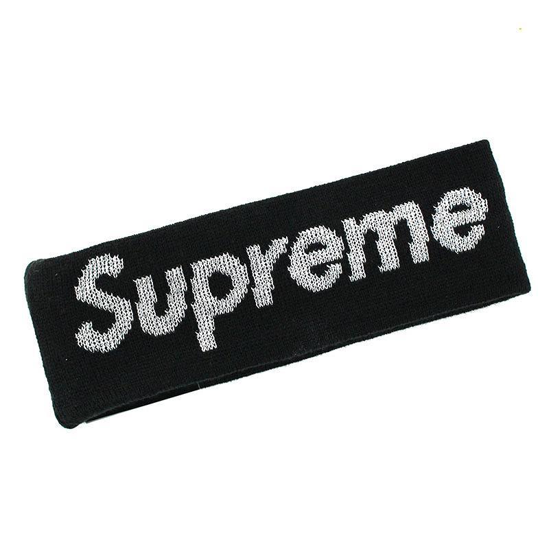 シュプリーム/SUPREME ×ニューエラ/NewEra 【16AW】【New Era Reflective Logo Headband】ロゴニットヘアバンド(ブラック)【NO05】【小物】【726081】【中古】【準新入荷】bb76#rinkan*S