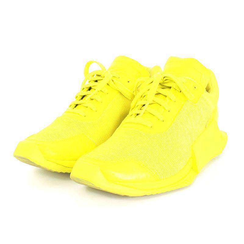 リックオウエンス/Rick Owens ×アディダス/adidas 【17SS】【CQ1841 RO LEVEL RUNNER LOW II】レベルランナーローカットスニーカー(27cm/イエロー)【SB01】【メンズ】【小物】【226081】【中古】bb223#rinkan*B